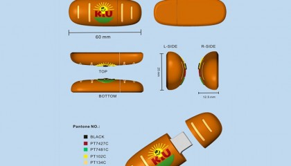 USB Stick in Brotform