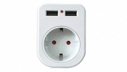 "USB Steckdosenadapter ""Dual"""
